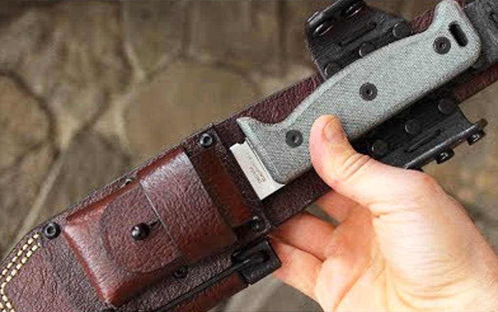 Hedge Hog Leatherworks Survival Knife Made in USA