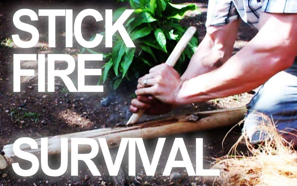 Make a Fire By Rubbing Sticks