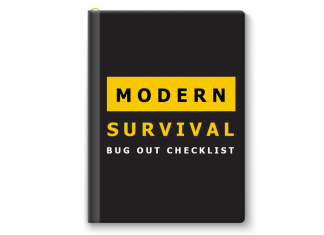 Modern Survival Bug Out Checklist