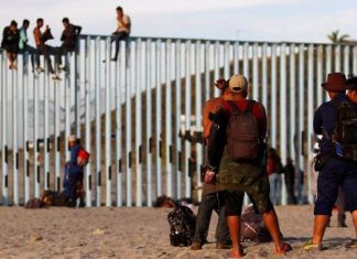 Part of Migrant Caravan Reaches U.S. - Mexico Border