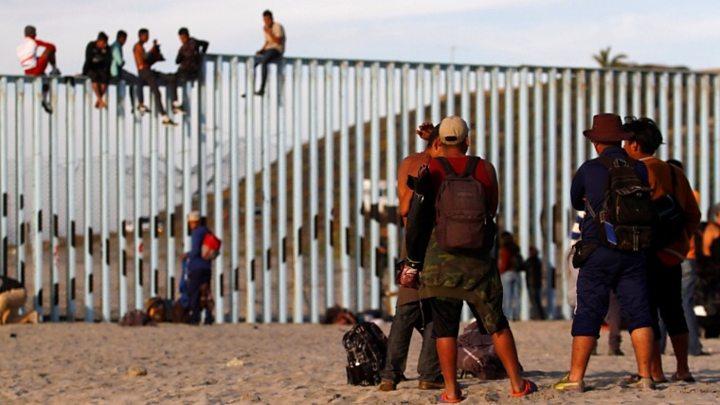 Part of Migrant Caravan Reaches U.S. - Mexico Border
