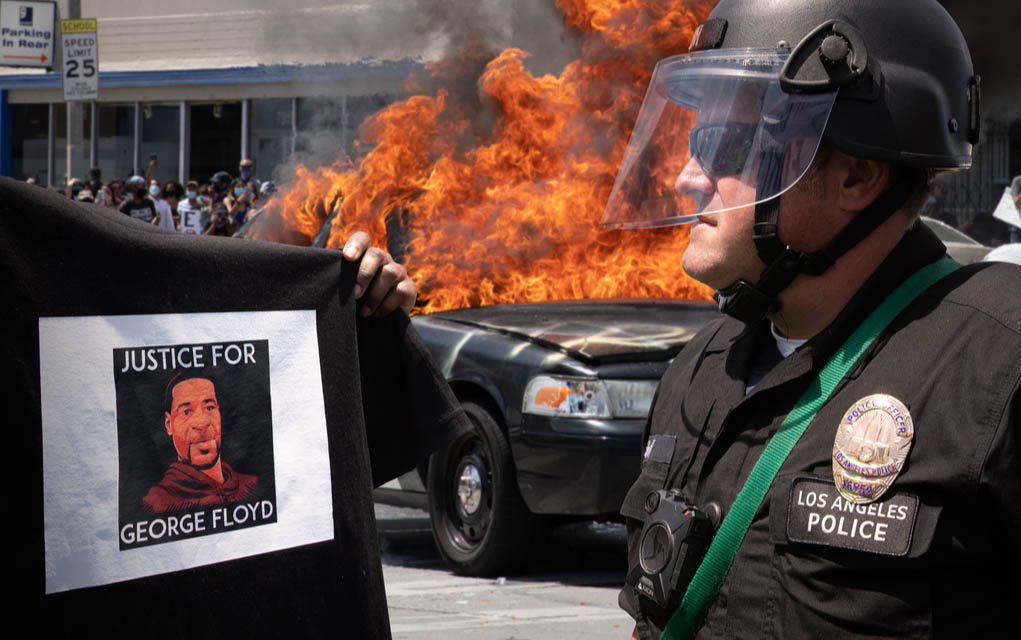 China Celebrates as America Burns