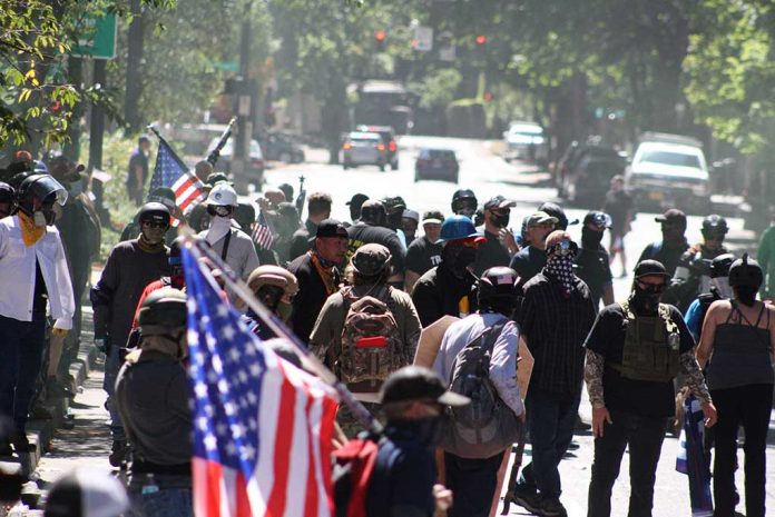 Rival-Protest-Groups-Violently-Clash